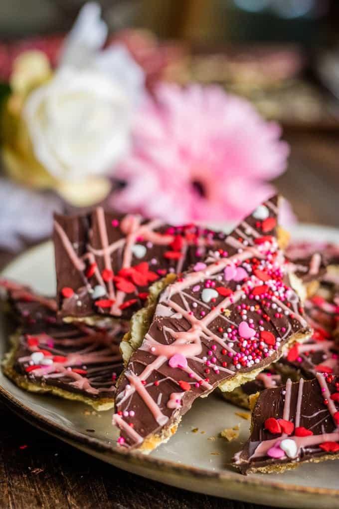 Saltine Toffee (Cracker Candy) for Valentine's Day