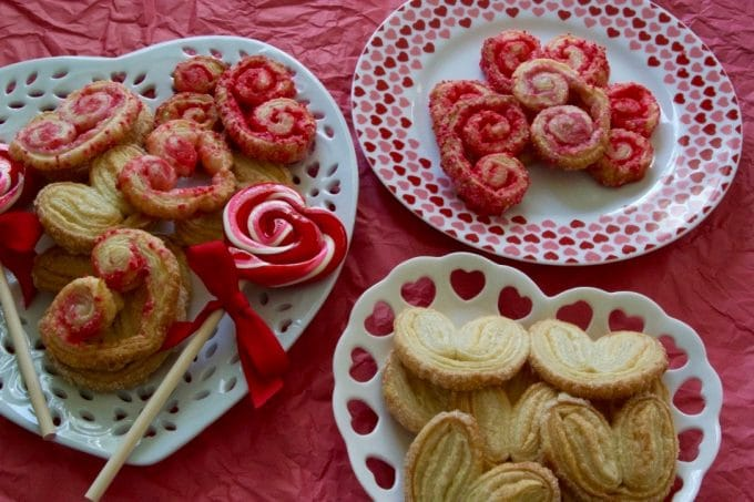Valentine's Day Heart French Palmier Cookies