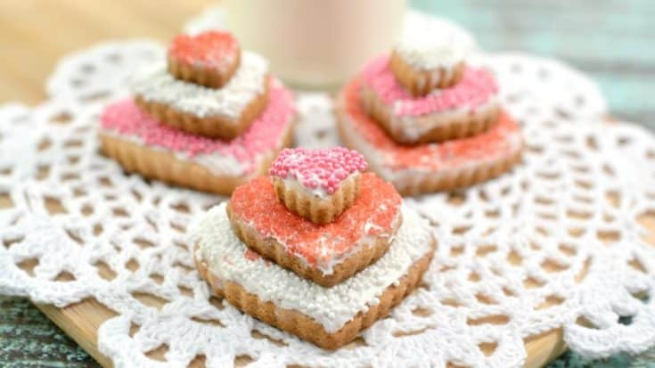 Stacked Heart Valentine Cookies