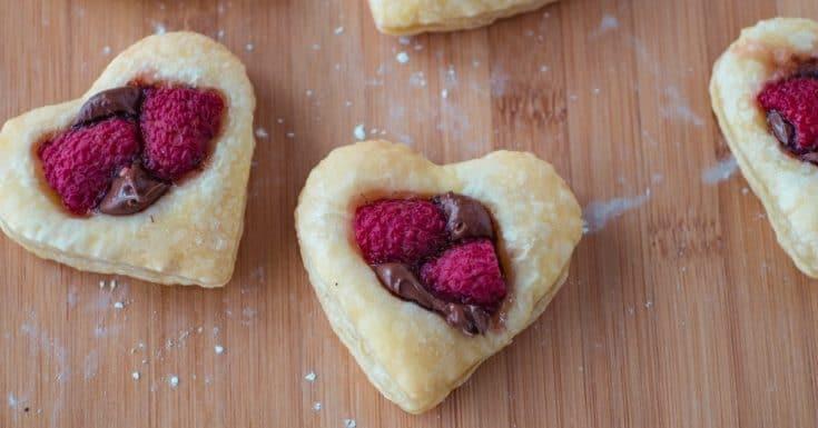 Valentine Puff Pastry Cookies