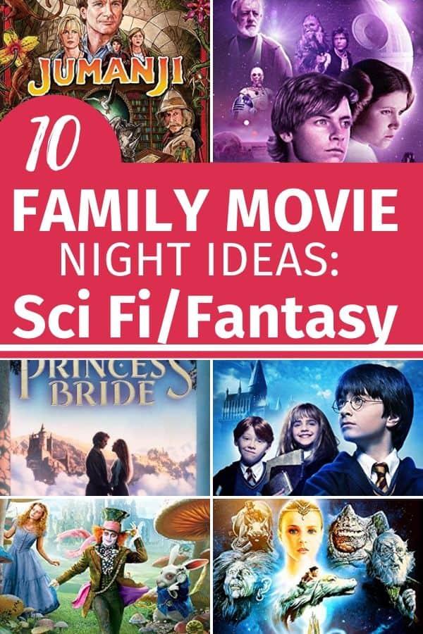 10 family movie night ideas: sci fi/adventure