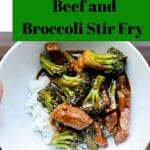 gluten free beed and broccoli stir fry