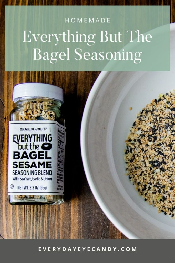 making homemade everything but the bagel seasoning