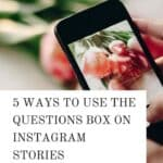 ways to use the question box on ig stories