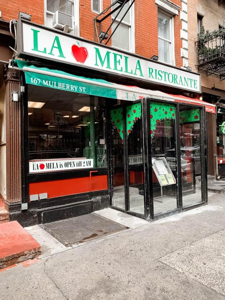 La Mela in Little Italy NYC