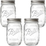 Ball Regular Mouth Mason Jars  16-Ounces (4-Pack)