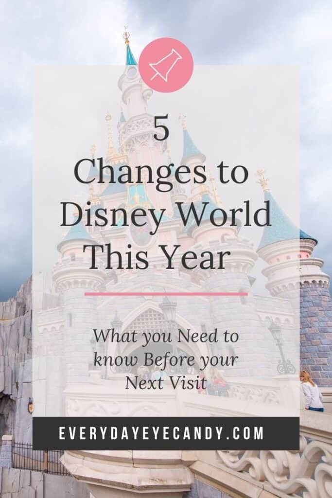 disney castle is one of the major changes to disney world this year