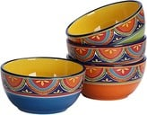 Bico Tunisian 26oz Ceramic Cereal Bowls Set of 4, for Pasta, Salad, Cereal, Soup & Microwave & Dishwasher Safe