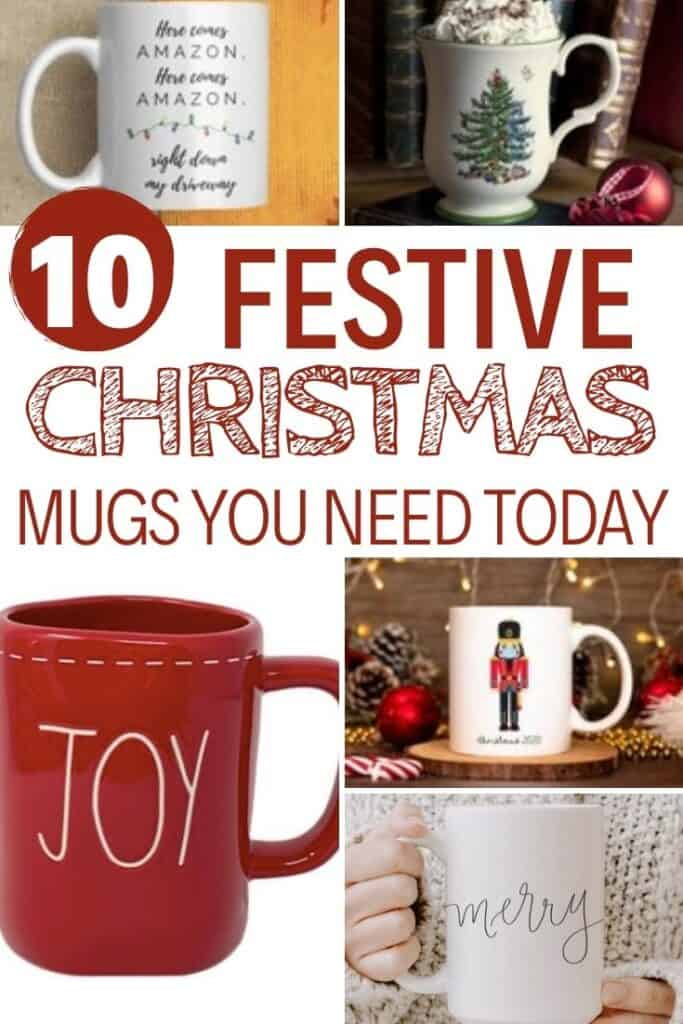 christmas mugs for the season