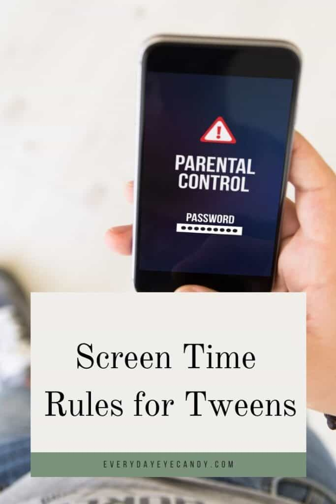 screen time rules for kids graphic