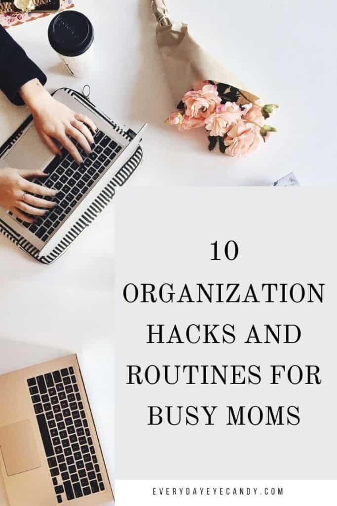 organization hacks graphic