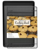 Glomery Non Stick Bakeware Baking Sheet with Cooling Rack 2-Piece Set