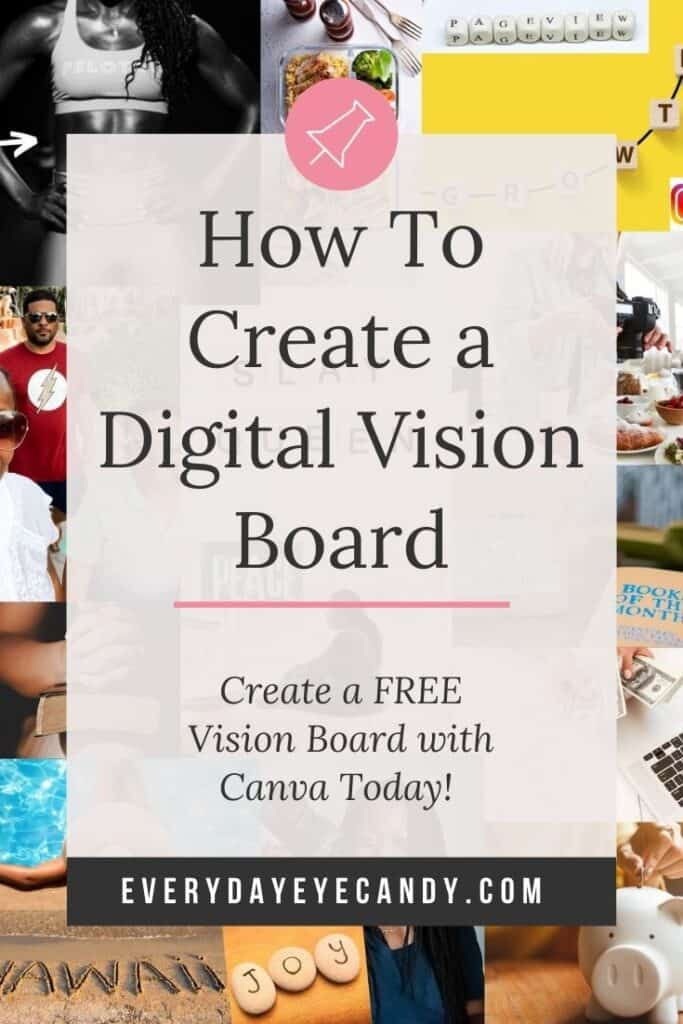 How to create a digital vision board graphic