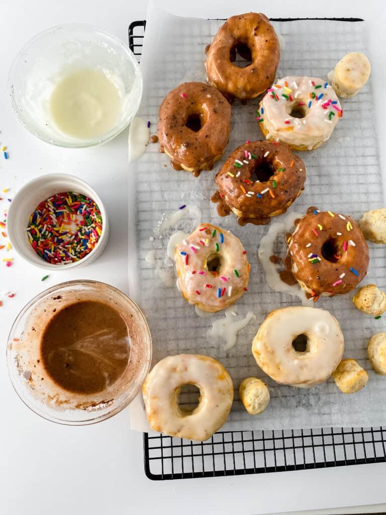 glazing air fryer donuts
