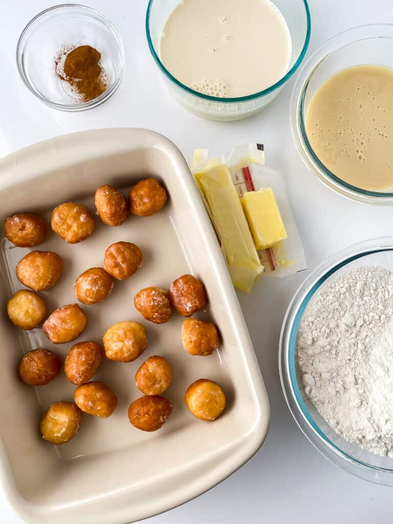 ingredients needed for donut bread pudding