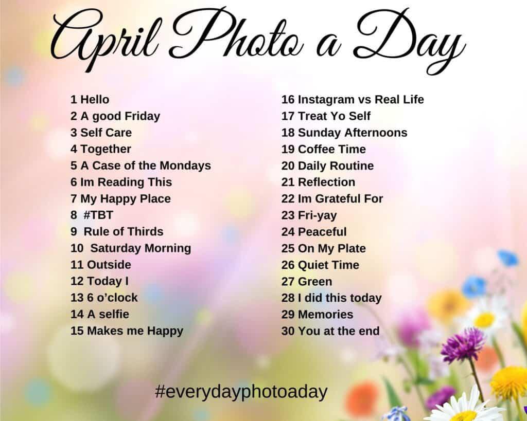 april photo a day