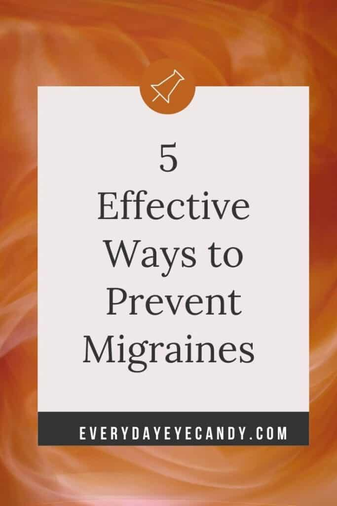 Looking for an effective ways to help prevent migraines that does not involve meds? Try SEEDS, 5 lifestyle changes to prevent migraines.
